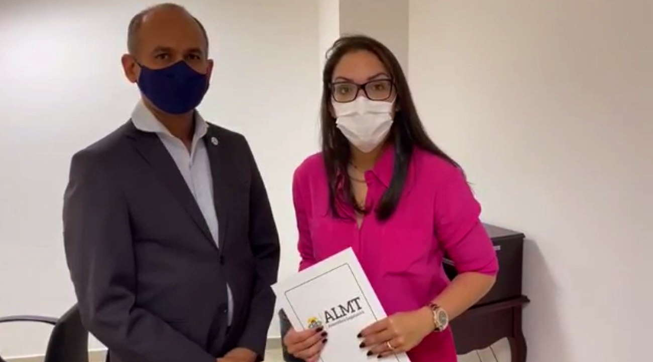 Imagem: janaina reitorufmt Janaína pede apoio da UFMT para agilizar análise de diplomas de médicos no Revalida