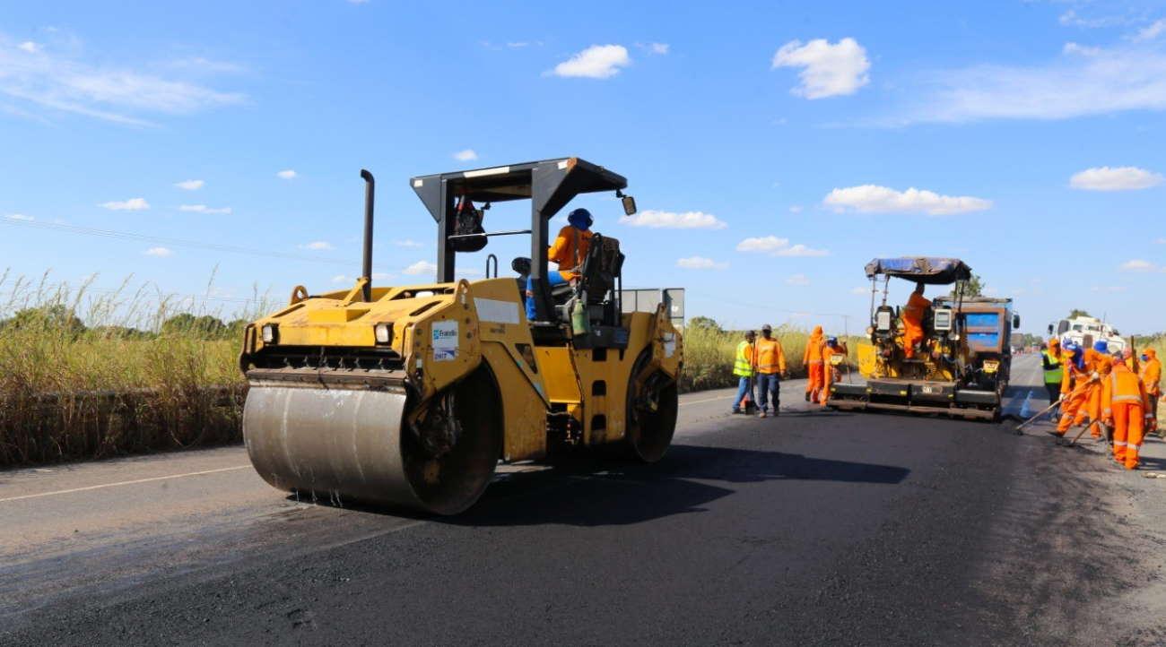 Imagem: obra rodovia Recursos para obras em rodovias vão beneficiar várias cidades de Mato Grosso