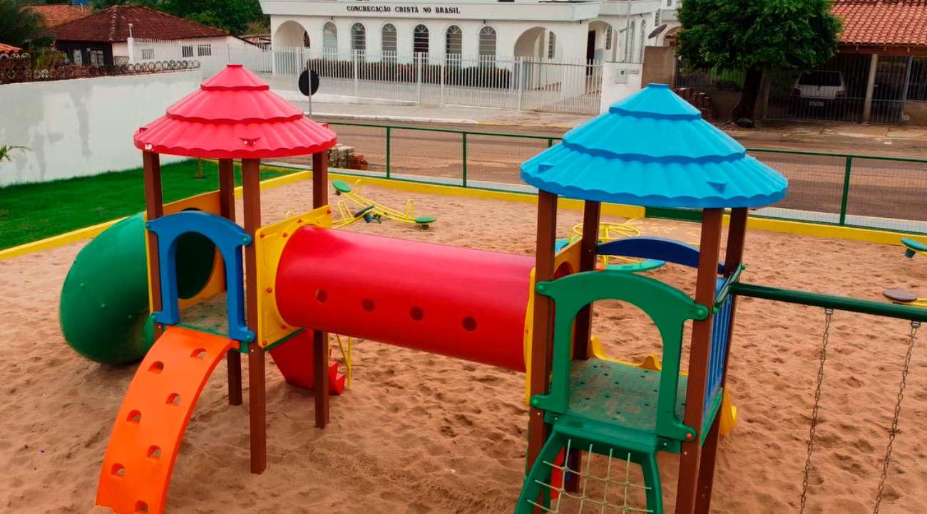 Imagem: parquinho tesouro Prefeitura de Tesouro comemora Dia das Crianças com inauguração de parques infantis